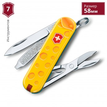 Нож-брелок VICTORINOX CLASSIC ALPS CHEESE 0.6223.L1902